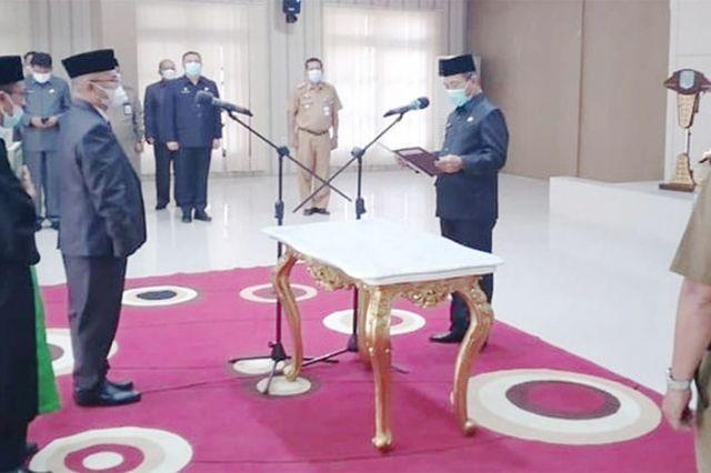 Muktamar Hamdi dilantik Sebagai Pj Sekda Merangin