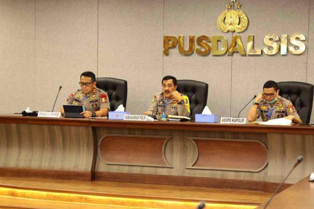 Kabaharkam Polri Pimpin Rakor Lanjutan Ops Aman Nusa II Penanganan Covid-19